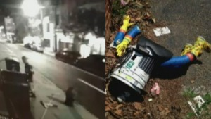 Video May Show Destruction of Hitchhiking Robot
