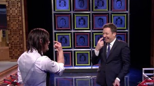 """Jimmy Fallon Challenges Norman Reedus to """"Facebreakers"""""""