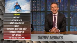 'Late Night': Ya Burnt? Sledding, Bethlehem Innkeepers