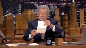 "Regis Philbin Pens Thank-You Notes on ""Tonight"""