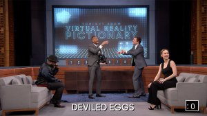 'Tonight': Virtual Reality Pictionary With Larson, Wayans