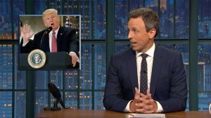 'Late Night': Meyers Breaks Down Trump's Press Conference