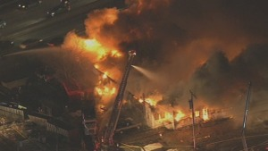 Dozens of Homes in the Dark After Sheet Metal Plant Blaze