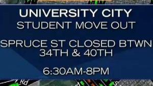 Traffic Alert: It's Move Out Day in University City