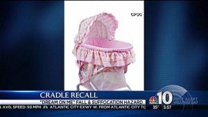 Thousands of Baby Cradles Recalled