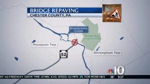 Chester County Bridge Closes for Repaving