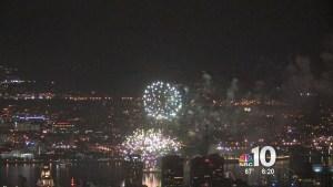 Fireworks Turn Skies Red, White & Blue
