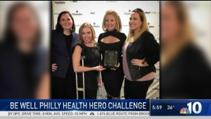 Tracy Davidson Gets VIP Award in Be Well Philly Health Hero Challenge