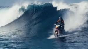 WATCH: Stunt Rider 'Surfs' Across Water On Bike
