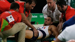 French Gymnast's Leg Snaps During Olympic Vault