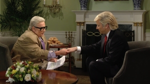 'Tonight Show': Jiminy Glick Interviews Donald Trump on His First 100 Days