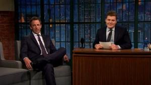 'Late Night' Writer Ben Pretends to Host