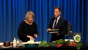 'Late Night': Martha Stewart Makes Pizza