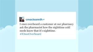 'Tonight' Hashtags: #IOnceOverheard