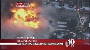 4-Alarm Fire at Montgomery County Sheet Metal Plant