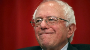 Sanders Visits Colbert, Talks Peanuts and Revolution