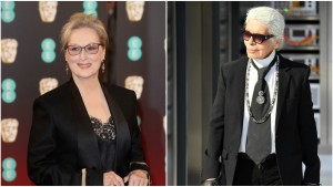 Lagerfeld Says Streep Wanted Money to Wear Chanel to Oscars