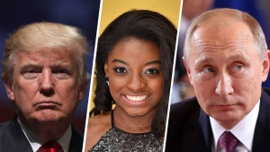 Trump, Biles, Putin on Time's Person of the Year Shortlist