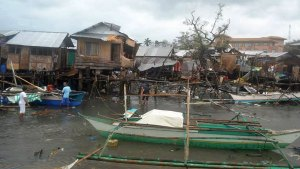 Local Families Try to Connect With Victims of Typhoon