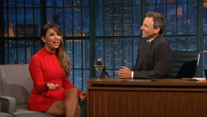 'Late Night': Longoria Went to Serena Williams' Baby Shower