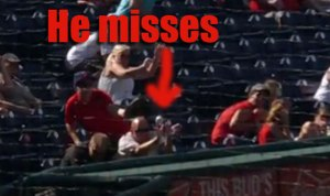 OUCH: Tough Guy Phillies Fan Takes Line Drive Directly to Skull