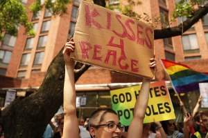 LGBTQ Wall of Love Drowns Out Westboro Protesters