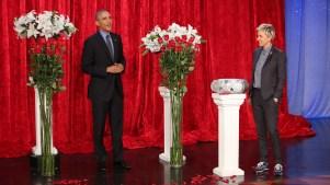 Obama Recites V-Day Poem to First Lady on 'Ellen'