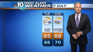 NBC10 First Alert Weather meteorologist Bill Henley has another foggy start as temps push into the 80s today.