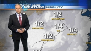 NBC10 First Alert Weather meteorologist Bill Henley has a foggy, dreary start to the day.