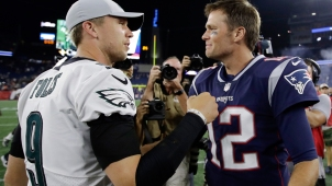 Tom Brady Finally Shakes Nick Foles' Hand