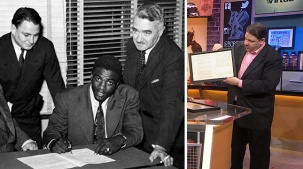 Jackie Robinson's Historic Dodgers Contract on Display in Philadelphia