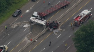 2 Hurt After Tractor Trailer Collides With Dump Truck on Route 1