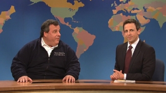NJ Gov. Chris Christie Drops by 'SNL'