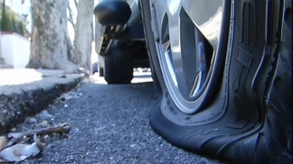 Tires Slashed on Mayfair Street