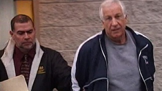 Sandusky Spending the Night in Jail