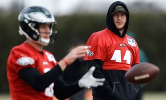 Fair Or Not, Carson Wentz Knows Comparisons to Nick Foles Won't Disappear