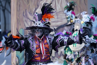 Rain Won't Stop the Mummers Parade