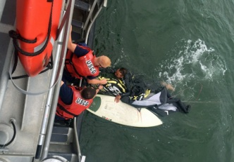 Coast Guard Rescues Kite Surfer Caught in Rough Water