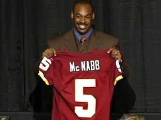 McNabb's Burgundy and Gold Jersey Sales Soar