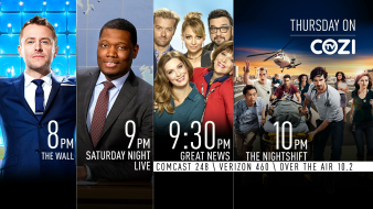 NBC10 Prime Time Lineup to Air on Cozi TV