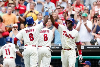 Lee, Brown Power Phillies Past Brewers