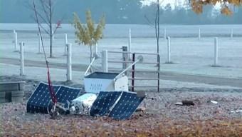 Samsung Satellite Falls, Lands in Michigan Couple's Yard
