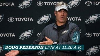Eagles Coach Doug Pederson Talks From Rookie Minicamp