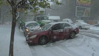 Snow, Sleet and Heavy Rain Create Mess on Roads