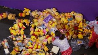 Winnie the Pooh Rains Down Onto Ice for Yuzuru Hanyu