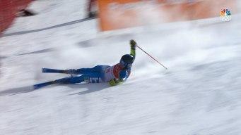 Serious Crashes Sideline 2 Skiers in Men's Giant Slalom
