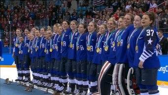 Team USA Receives Women's Hockey Gold Medals