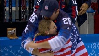 USA's Coyne Celebrates With Fiancé, Chargers OL Schofield