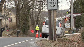 Truck Driver Crashes Into Power Lines in Springfield Township
