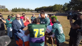 Eagles Surprise High School Team With New Equipment and Tickets
